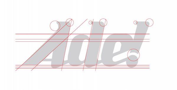 Alinhamento irregular marca antiga ade